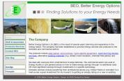 image showing Better Energy Option's website